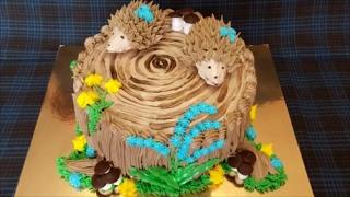 Украшение тортов/ ПЕНЁК /Украшение торта кремом/Оформление тортов/Cake decorating