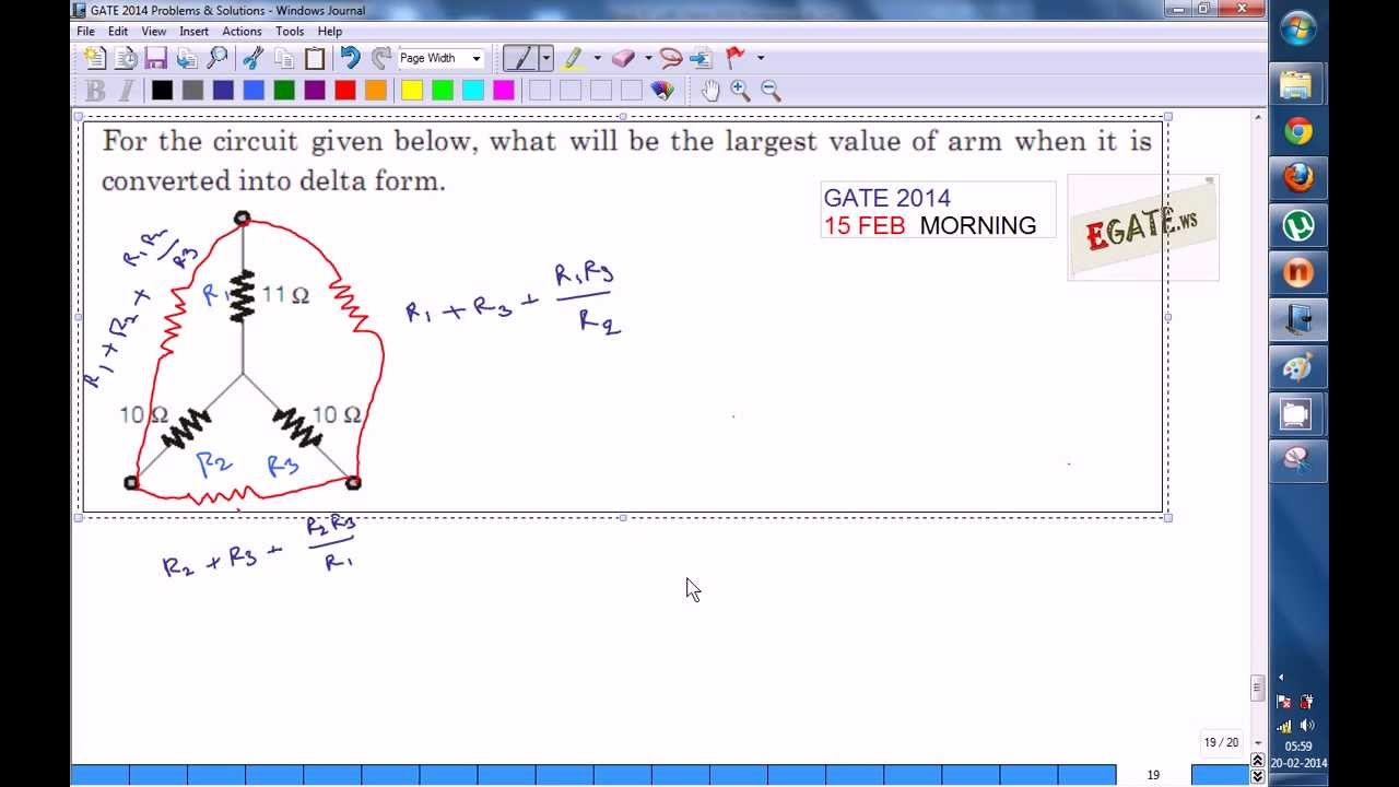 Problem on Star - Delta Transformation (GATE 2014 ECE Paper Solution)