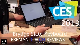 CES 2019   Best Keyboard for the Google Pixel Slate from Brydge