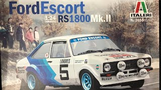 1:24th Italeri Ford review Escort RS 1800 mk 2