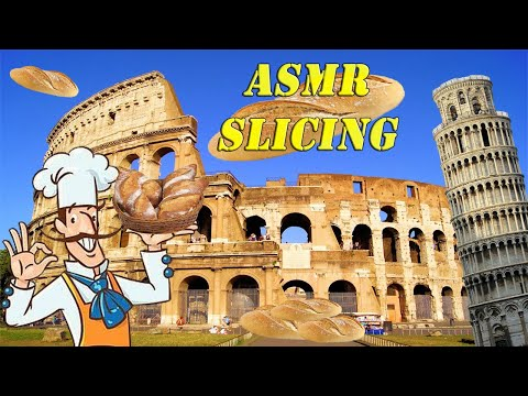 ASMR Slicing: Pão Italiano (Italian bread made in Brazil)