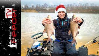 Рыбалка на фидер зимой Зимняя рыбалка на леща Зимний фидер Как ловить леща зимой Vlog 44