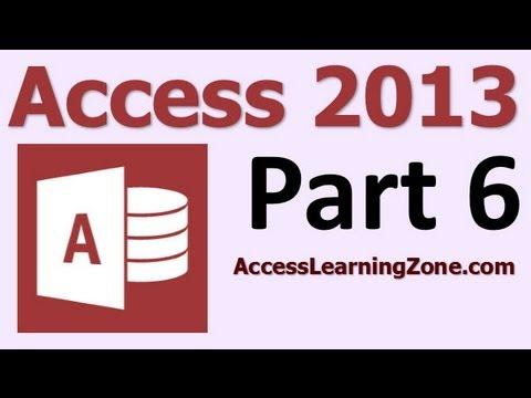 Microsoft Access 2013 Tutorial Level 1 Part 06 of 12 - Entering Data, Part 1