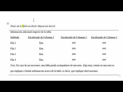 Tablas En Word En Apa Normas Apa Sexta Edición 2019