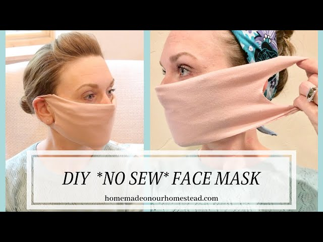 NO SEW FACE MASK | Upcycled T-shirt | NO SEWING MACHINE | 5 minute mask