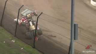 30th annual Kings Royal at Eldora: Jared Horstman sprint car wild wreck