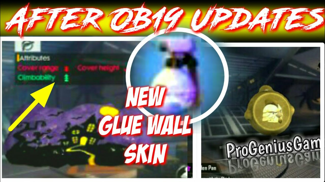 New Glue Wall Skin With Ability | Upcoming Updates | Garena Free Fire | Pro Genius Gamer