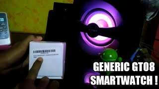 Generic Gt08 Smartwatch Unboxing And Review