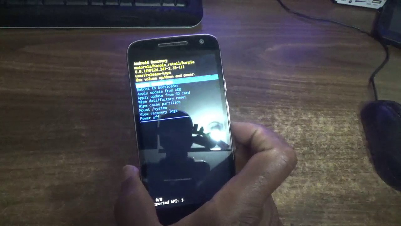 how to factory reset moto g4 play