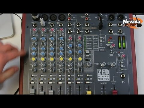Allen & Heath ZED Sixty10FX USB mixer demo at Nevada Music UK