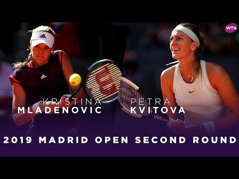 Kristina Mladenovic vs. Petra Kvitova | 2019 Madrid Open Second Round | WTA Highlights
