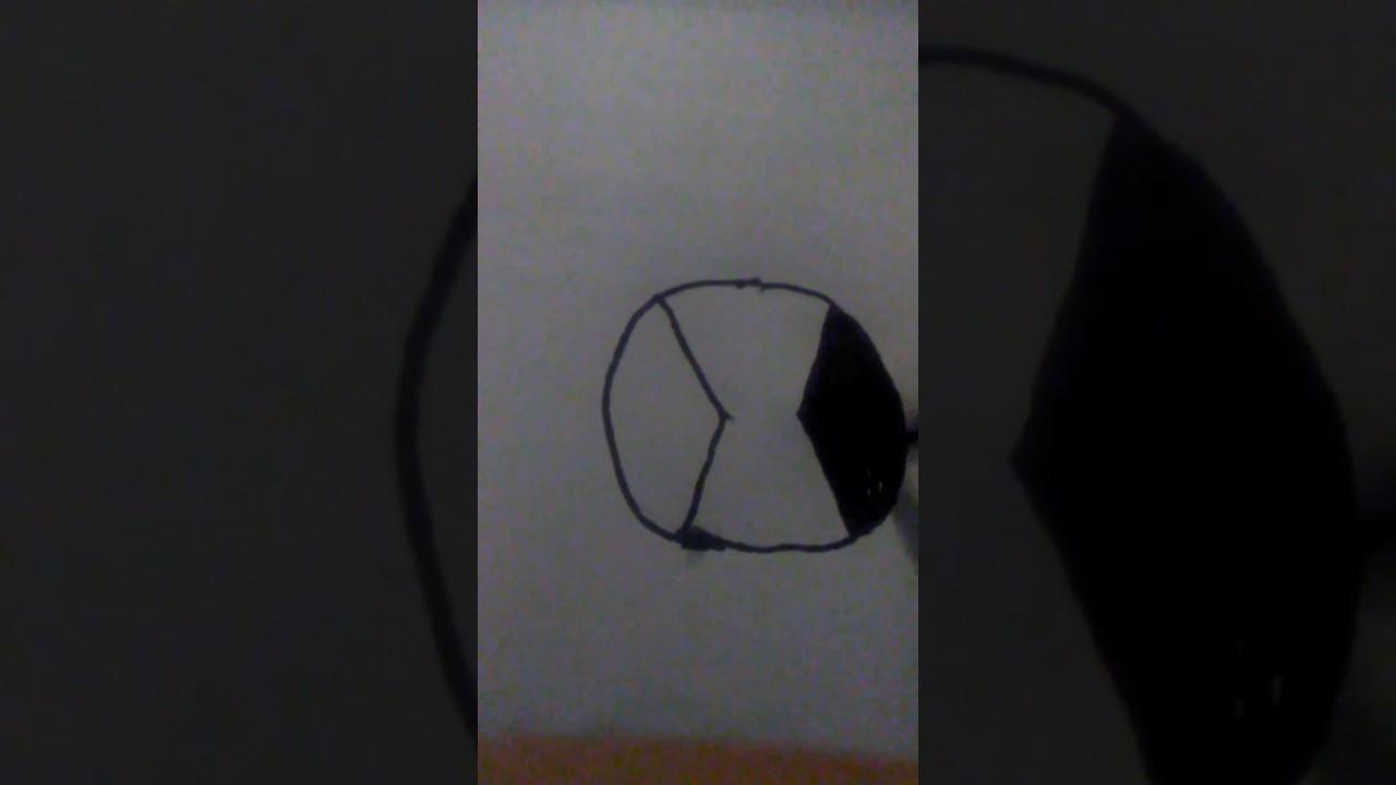 How To Draw Ben 10 Omnitrix Symbol Youtube