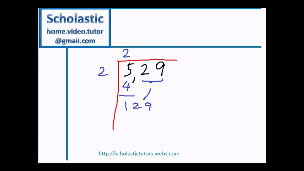 Finding The Square Root Of A Number Youtube
