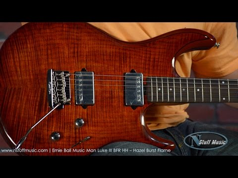 Ernie Ball Music Man Luke III BFR HH - Hazel Burst Flame
