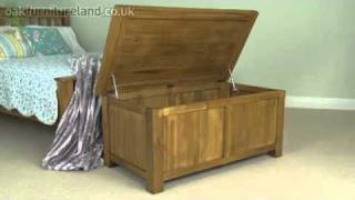Rustic Oak Blanket Box From Oak Furniture Land
