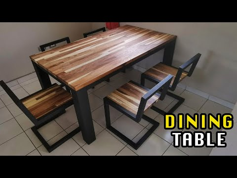 Dining Table - Metal and Huanacaste wood || Mx Makers
