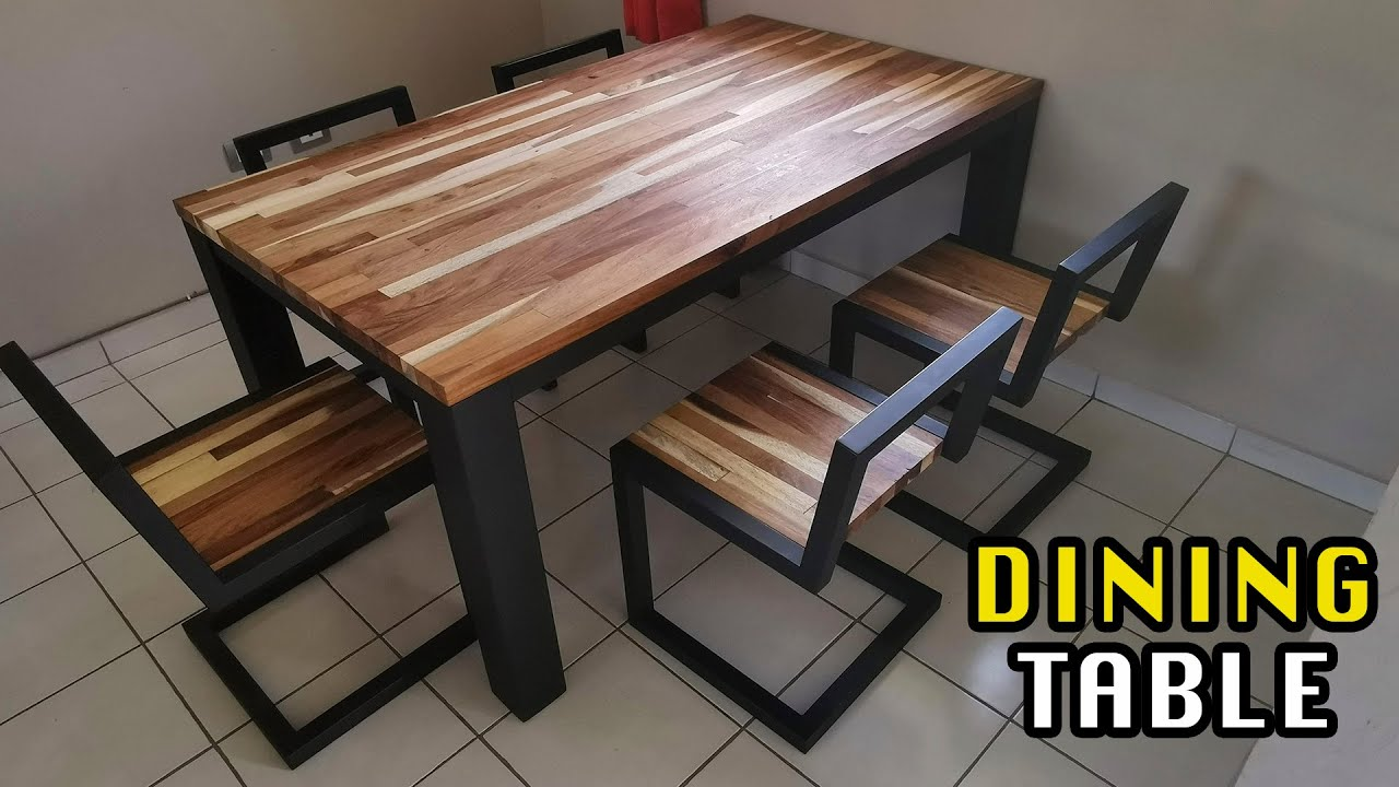 Dining Table   Metal and Huanacaste wood    Mx Makers