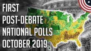 3 New Post-Debate Polls - Democratic 2020 Presidential Primary Polls October 2019