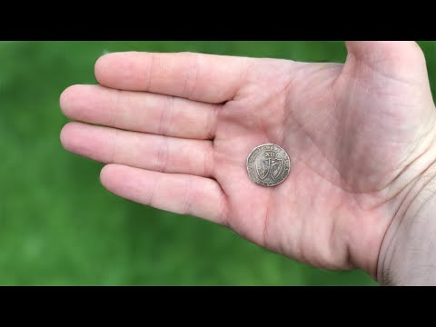 Hammered silver coins underground test.