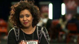 Kristin Amparo sjöng sig vidare - X Factor (TV4)