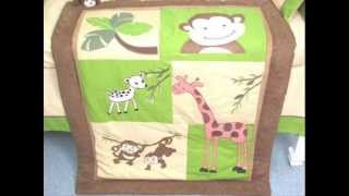 Monkey Savannah Baby Crib Nursery Bedding Set ; Discount Baby Bedding
