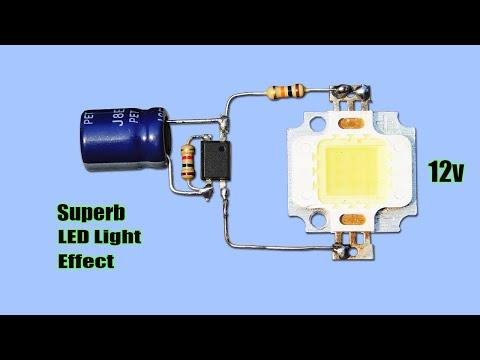 Superb DIY 12v LED Light Effect Circuit | Bike Flasher