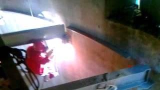 K2szczecin montaż podestu  - komin Dolna Odra 200m