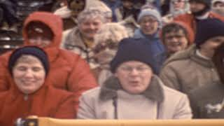 1980 Winter Olympics Speed Skating and Family in Crowd