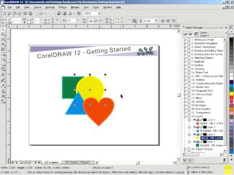 How To Work With Layers In Corel Draw Corel Draw Layer Youtube