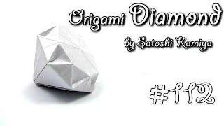 Origami Diamond by Satoshi Kamiya - Yakomoga Origami tutorial