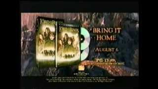 """2002 """"Lord of the Rings"""" VHS / DVD commercials"""