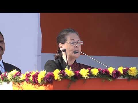 Smt. Sonia Gandhi's speech at Congress HQ, Delhi