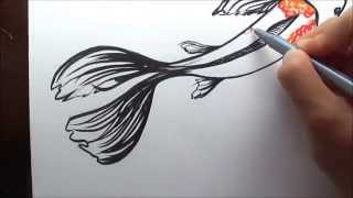 How to Draw A Koi Fish (Simple and Easy Illustration)