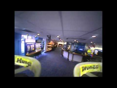 Flying a drone inside Coral Bookmaker