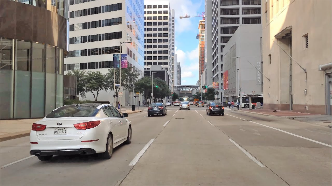 Driving Downtown 4K