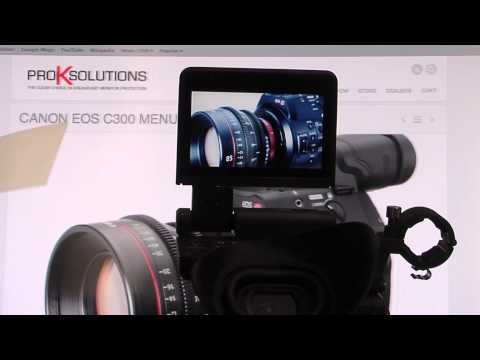 Canon C300 Pro K Solutions Optical Clarity Protective cover applied