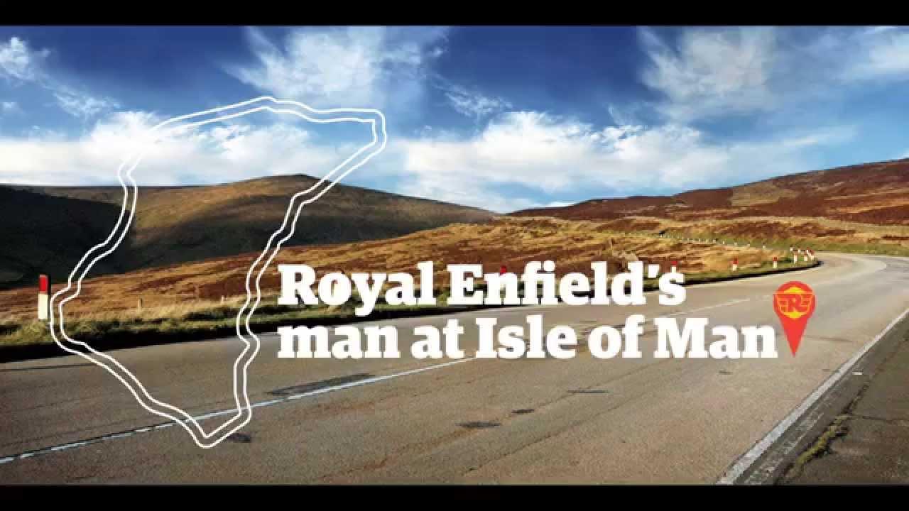 画像: Royal Enfield's man at the Isle of Man. youtu.be