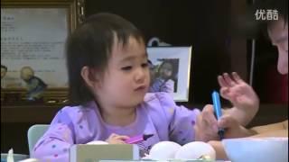 奥莉3岁生日表情调皮卖萌 甜馨想念姐姐 高清