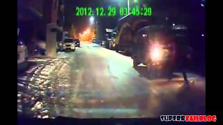 Приколы. Смешные ДТП на дорогах. Russian Road Rage and Accidents 01 2013 +18