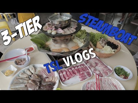A THREE TIER STEAMBOAT FOUND IN SINGAPORE!   TSL Vlogs
