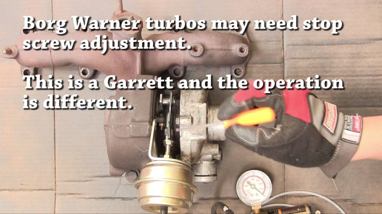 VNT turbo actuator adjustment and repair/replacement on TDI