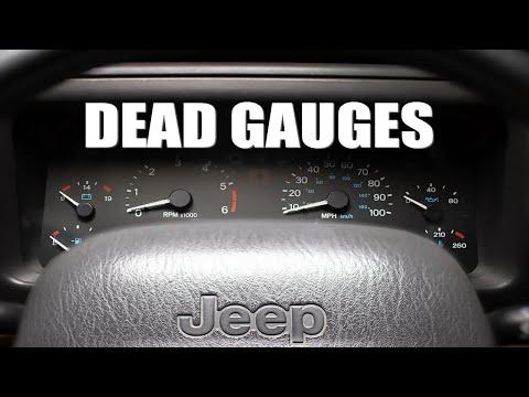 Dead Gauge Cluster In JEEP TJ... FIXED!!
