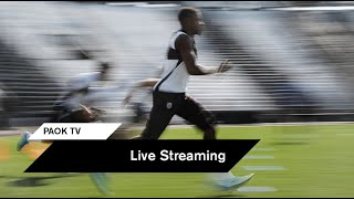 Live Streaming: Η ανοιχτή προπόνηση του Δικεφάλου - PAOK TV