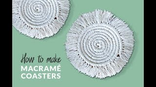 DIY Round Macramé Coasters | Boho Room Decor | Curly Made