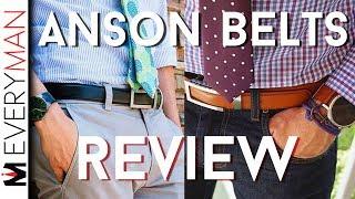 ANSON BELTS HONEST REVIEW | Best Men's Belt Making Regular Belts Obsolete?