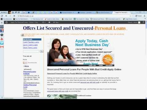 Personal Loans For People With Bad Credit-Guaranteed Unsecured Personal Loans