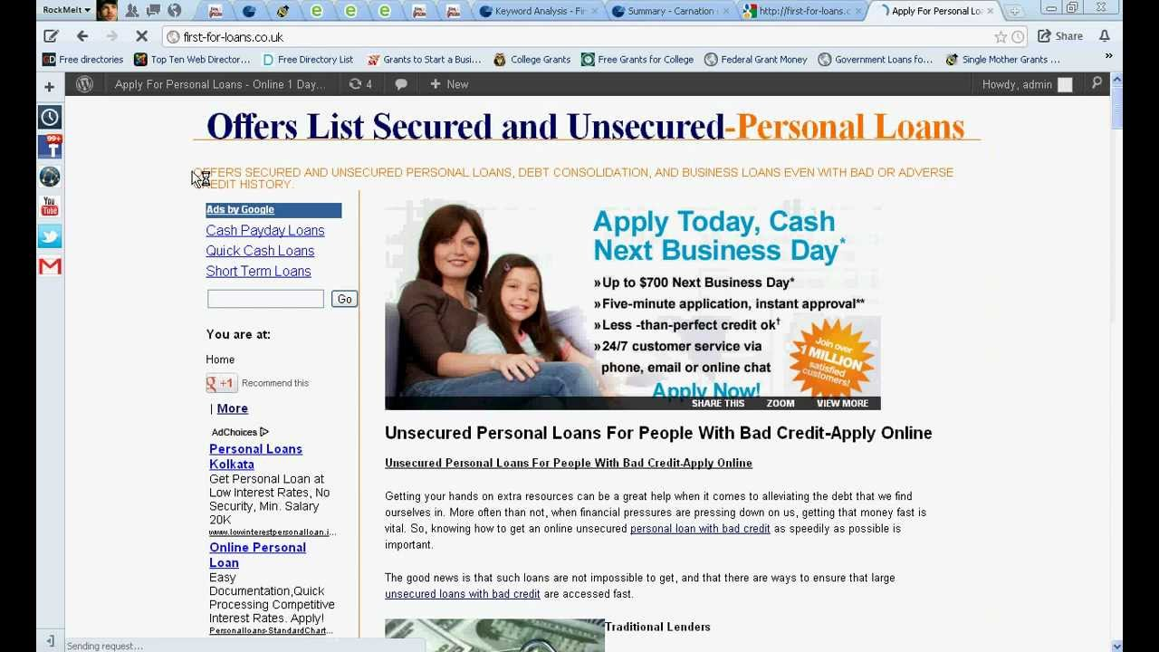 Personal Loans For People With Bad Credit-Guaranteed Unsecured Personal Loans - YouTube