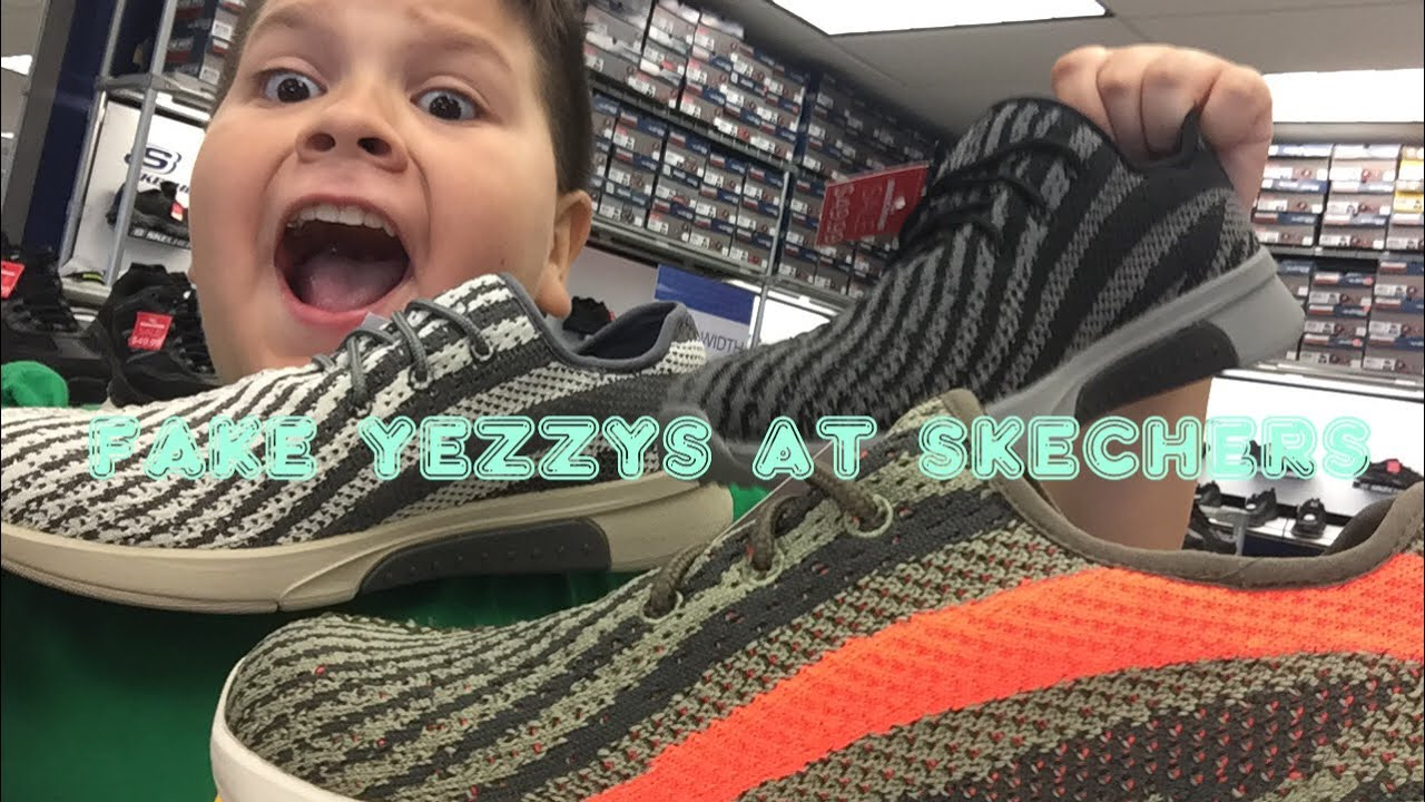 a0d7d420440 Fake yeezys at Skechers - YouTube