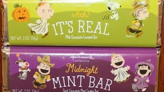 Peanuts Halloween Hallmark Confections: Chocolate Caramel & Chocolate Mint Cookie Review