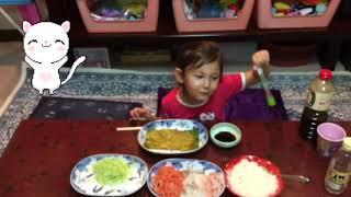 ????????????????Домашние суши-temakizushi!Обзор приготовления дома с Никой-Николь!????????????